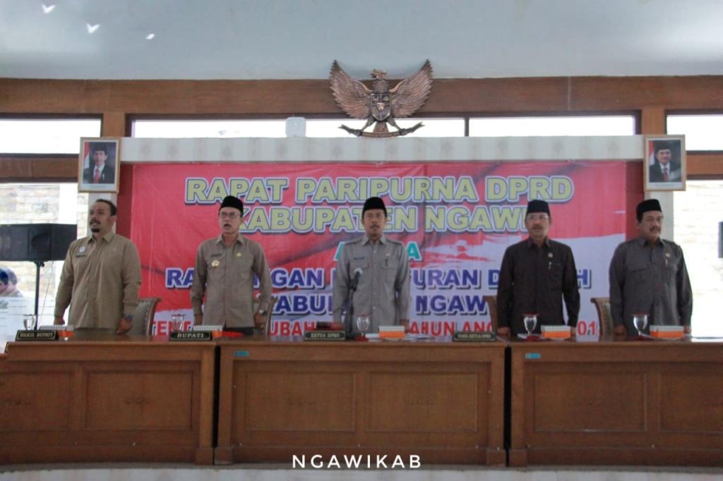 DPRD Kab. Ngawi Gelar Rapat Paripurna PAPBD Tahun 2018
