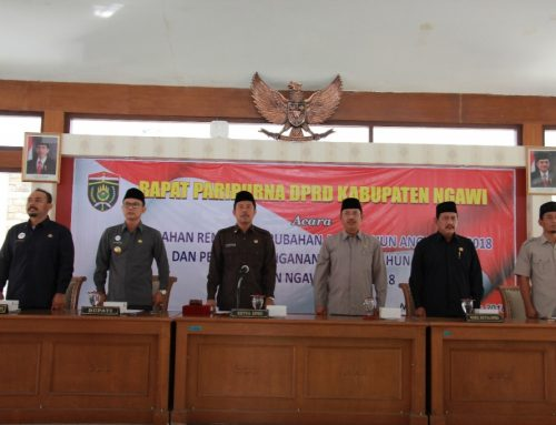DPRD Kab. Ngawi Gelar Rapat Paripurna Rencana Perubahan APBD dan Penanda Tanganan KUA PPA
